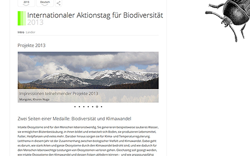 Screenshot Biodiversity Day